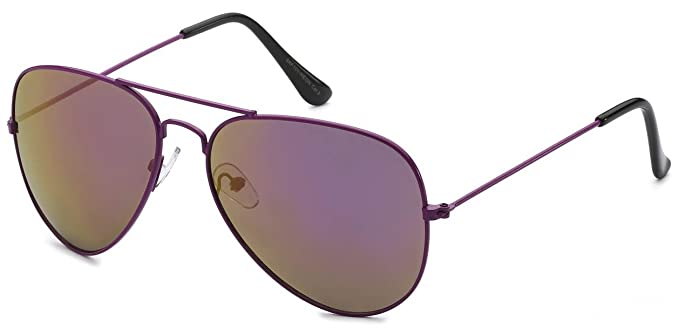Amazon.com: Aviator Estilo anteojos de sol colored Lens ...
