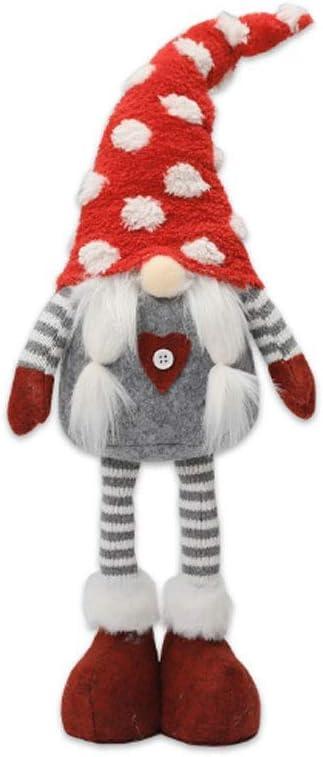 JWDYA Muñeca sin Rostro a Rayas Nordic Wind Forest Adornos para Hombre Viejo Adornos para muñecas de Navidad Adornos navideños (Color : Style Three)
