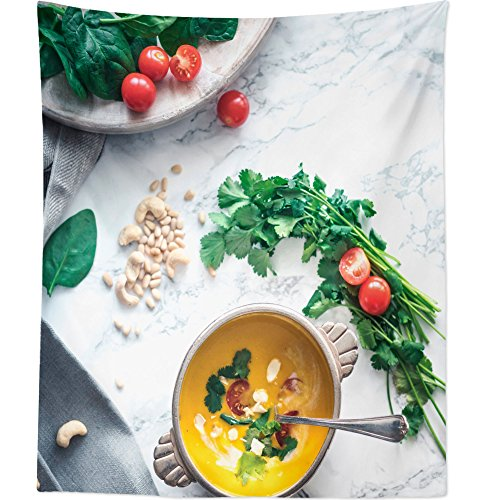 Arctic White Vegetable Bowl - Westlake Art Wall Hanging Tapestry - Soup On - Photography Home Decor Living Room - 68x80in (a74z)