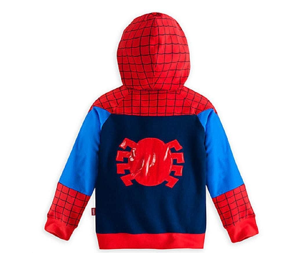 CHANI Boys Spiderman Superheros Cartoon Characters Mask Costume Hoodie