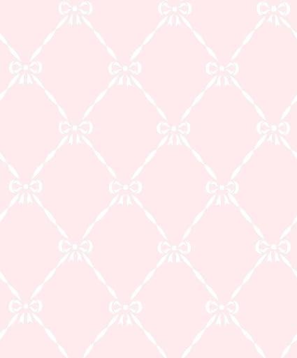 Jr3202 Jack N Rose Junior Pink White Bows Trellis Galerie