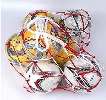RICISUNG - Bolsa de Red para balón de fútbol (10-15 Bolas, Cuerda ...