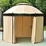 TANGKULA 10 ft Round Gazebo Canopy Shelter Outdoor Tent Side Walls Review