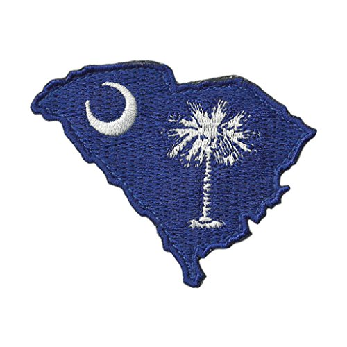 "Die Cut South Carolina State Patch - 2"" x 3"" - Full Color"