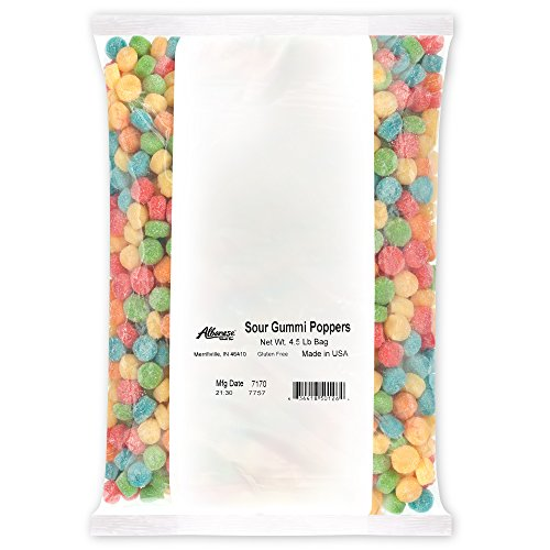 - Albanese Candy, Sour Gummi Poppers, 4.5 Pound Bag
