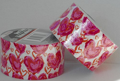 2 Rolls Pretty Hearts Patterned Duct Tape