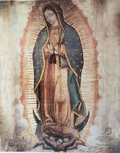 Virgen de Guadalupe Lienzo Real Gigante - Our Lady of Guadalupe Virgin Mary Huge Canvas Poster Print