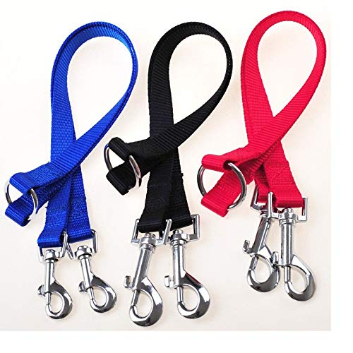 Leash Training - 200pcs Qualified Strong Nylon Pet Double Leash Twin Dog Multicolor Lead Walk Two Dogs Wa1878 - Collar Color Puppies Pulls For Book That Harness Your Puppy by Number onE (Image #3)