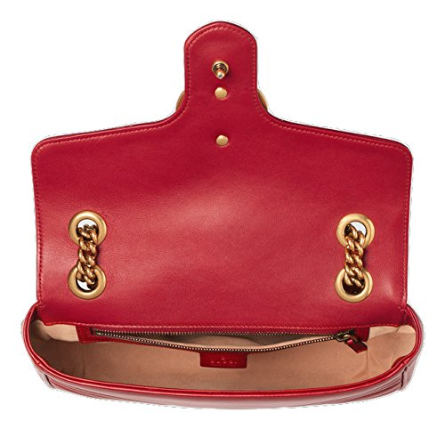 59bd7587ff13 New Gucci Red Marmont Matelassé Shoulder Bag: Amazon.co.uk: Shoes & Bags