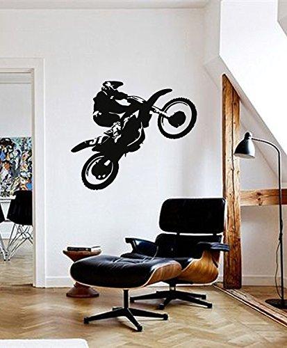 Andre Shop ik285 Wall Decal Sticker Decor Motocross Racing Bike Racer Race Speed Adrenaline Victory Interior livingSX6 e