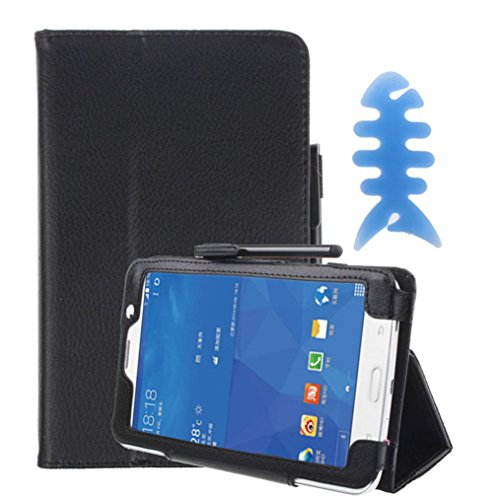 For Tab 4 7.0 Case, HP95(TM) Hot Sale Leather Flip Case Stand Cover +Film +Pen+ Reel For Samsung Galaxy Tab 4 7Inch Tablet SM-T230 SM-T231 (A)