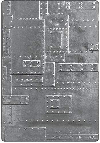 Tim Holtz Sizzix 3D Texture Fades Embossing Folders - Foundry Lumber - 2 item bundle