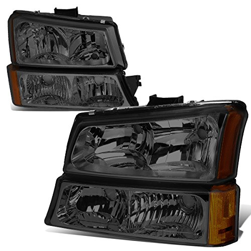 - For 03-06 Chevy Silverado/Avalanche 4-PC Smoke Lens Amber Corner Headlights/Lamps - Pair