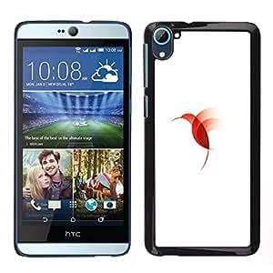 LECELL--Funda protectora / Cubierta / Piel For HTC Desire D826 -- Colibrí pájaro rojo --