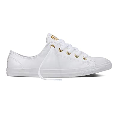 Converse All Star Ox Femme Baskets Mode Blanc Ti5I4Iss1