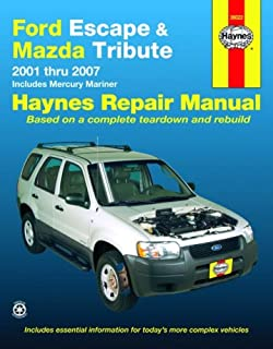 ford escape mazda tribute 2001 through 2003 chilton s total car rh amazon com Ford Escape Repair Manual P0446 2003 ford escape repair manual free download