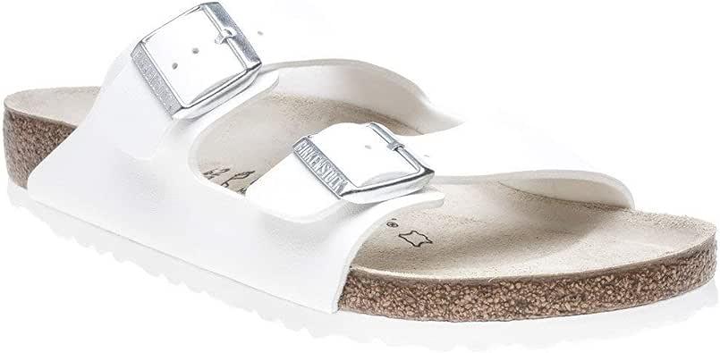 Birkenstock Unisex Adults' Arizona Sandals, Silver, 40 EU
