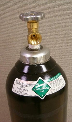 FULL 125 cu//ft 75/% Argon 25/% CO2 Welding Tank CGA 580