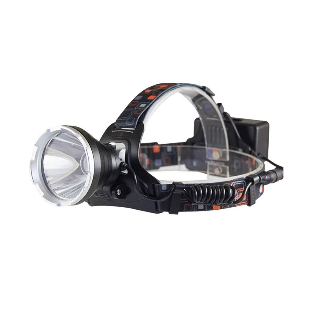 ZNND Angel Lampe, Nachtlicht Suchscheinwerfer Scheinwerfer Taschenlampe LED Glare Weiß Scheinwerfer Long-Range-Lithium-Batterie Angeln Outdoor Jagd (Farbe : A)