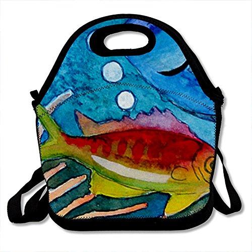 Wondertify Custom Untitled Design Undersea World Lunch Box Kids Teens Adult Lunch Bag Picnic Bag Backpack Bag