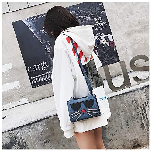 Design a Uzanesx Cat Borsa colore Pu tracolla Blu Leather Lady Cute blu tAqxw7