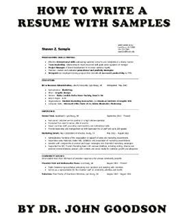 amazoncom how to write a resume with samples ebook dr