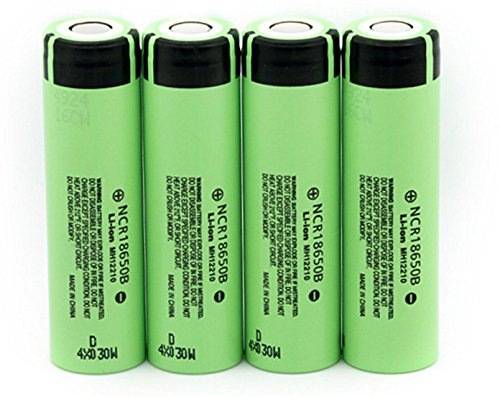 Fashionwu Exquisite 3.7V 3400mAH 18650 Rechargeable Lithium Battery for Panasonic Flashlight Batteries