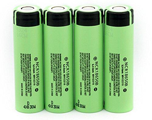 Zehui–Batería de litio recargable para Panasonic Linterna pilas exquisito 3,7V, 3400mAh 18650, 4 piezas