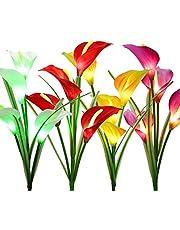 BrizLabs Outdoor Solar Garden Stake Lights, Solar Flower Lights