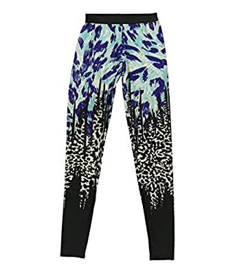 Petticoat Alley Womens Animal Printed Athletic Track Pants multi XS/29