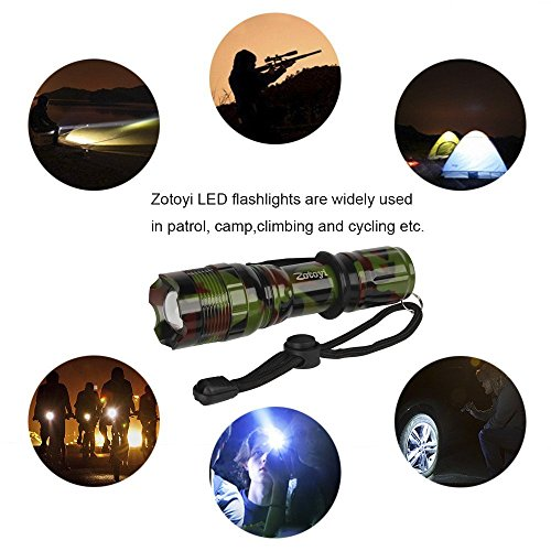 Super Bright Led Tactical Flashlight Zoomable Adjustable