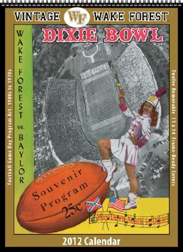 Wake Forest Demon Deacons 2012 Vintage Football Calendars (Forest Wake Calendar)