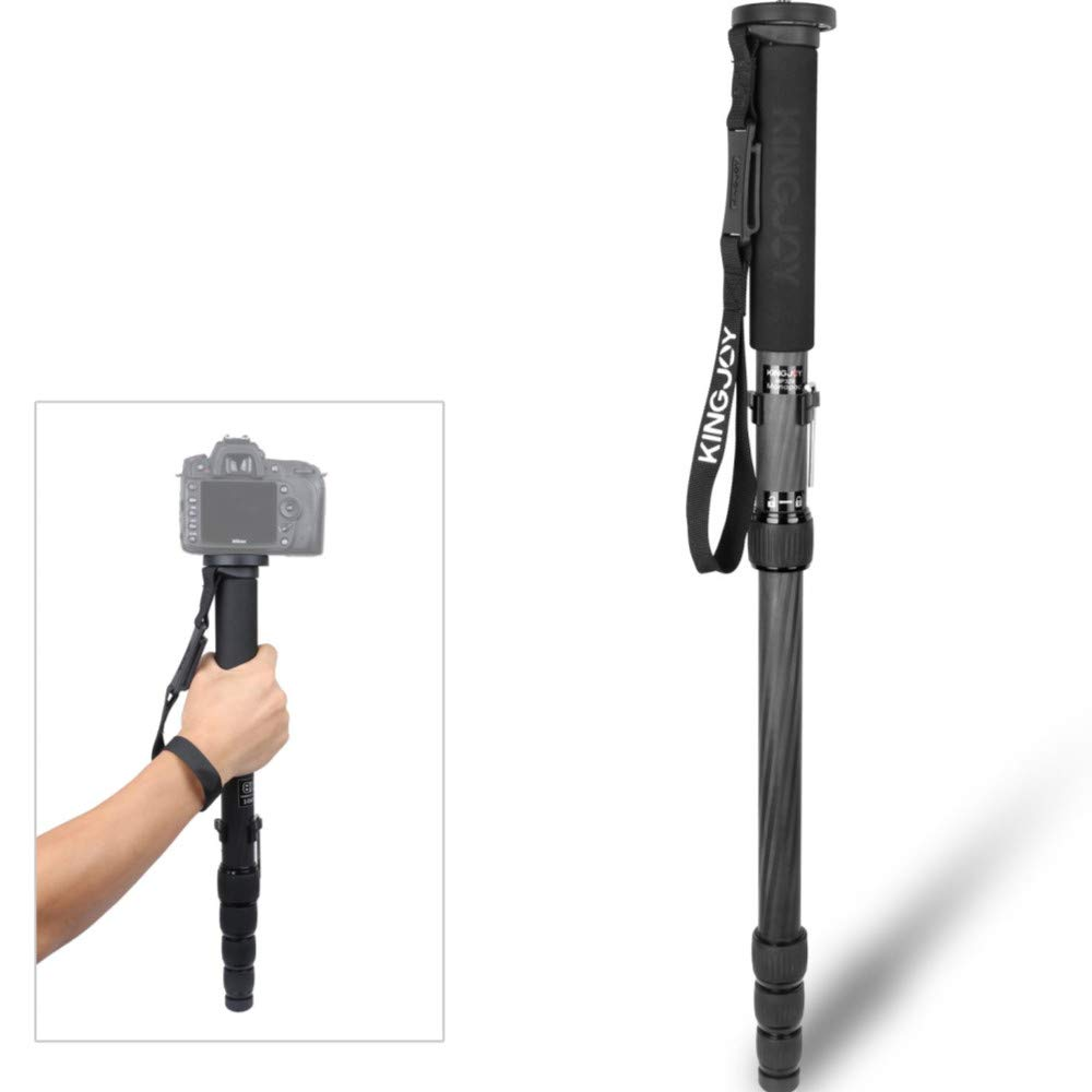 Carbon Fiber Lightweight Monopod 165cm 5-Section Video Professional Travel Monopod with 1/4'' 3/8'' Screw by AFI