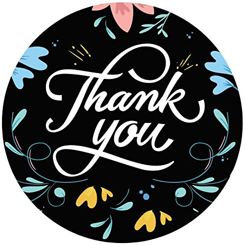 (500 Thank You Stickers Floral 1.5
