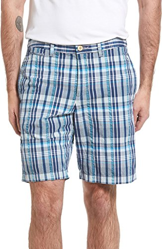 Tommy Bahama Men's Big & Tall Madras Seersucker Shorts (44 x R, Chambray) by Tommy Bahama
