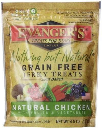 EVANGER'S 776300 Nothing But Natural Organic Chicken Dog Treats, 4.5-Ounce