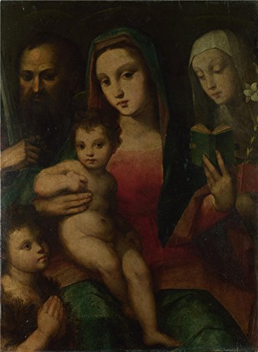 Oil Painting 'Andrea And Raffaello Del Brescianino - The Madonna And Child With Saints,1506-45' 20 x 27 inch / 51 x 69 cm , on High Definition HD canvas prints, Dining Room, Home Office And Ho decor