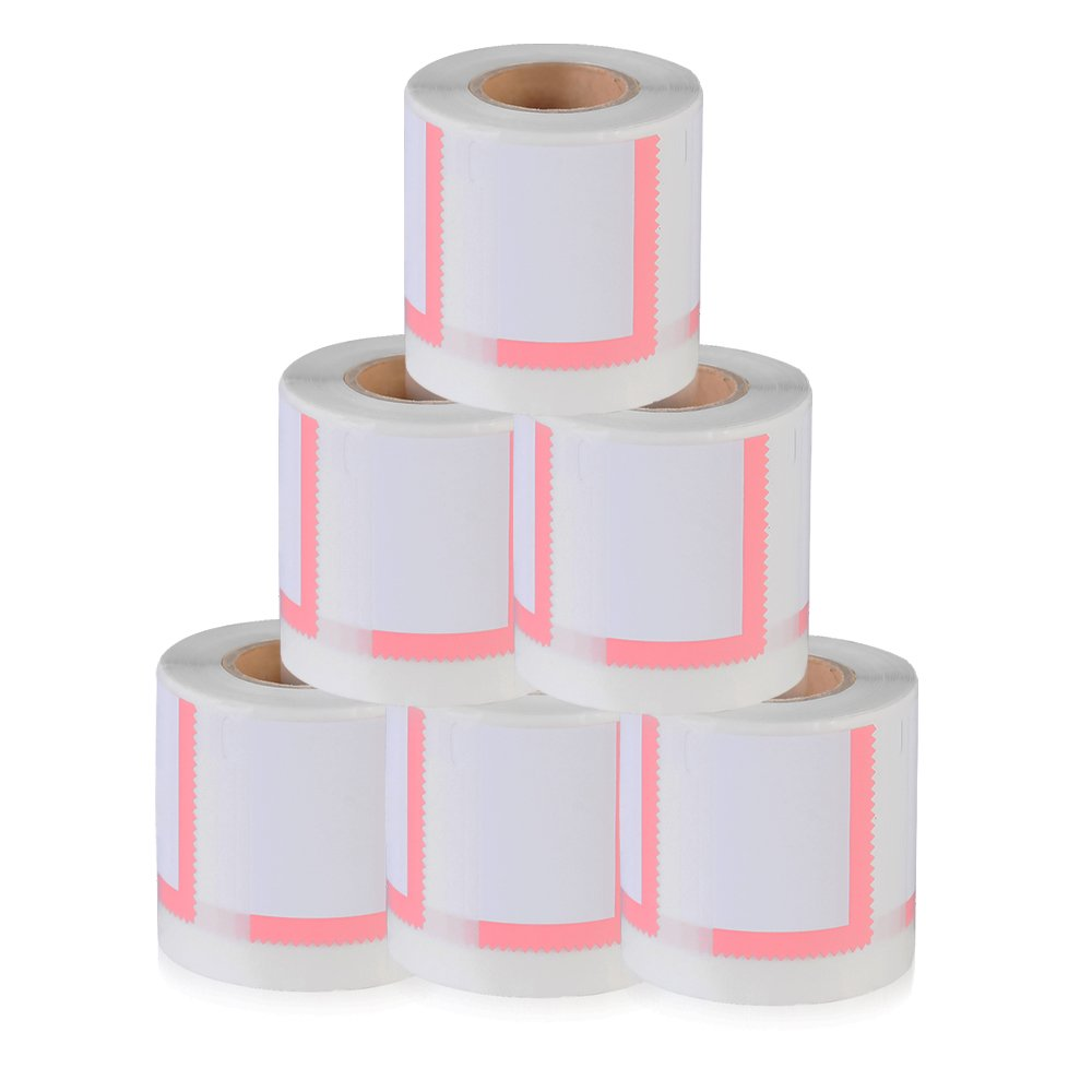 6 Rolls New Compatible Postage Stamp Label Roll DYMO 30915 size of 1-5/8'' x 1-1/4'' (41 x 32mm) use with 300,310,315,320,330,400,400Duo,400Twin Turbo(300 Labels per roll)