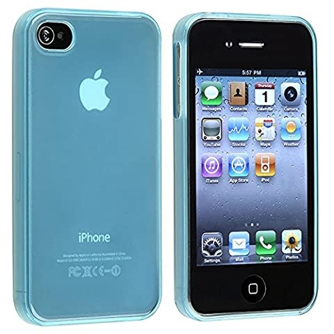 Frost Light Blue TPU Rubber Skin Case Cover for Apple
