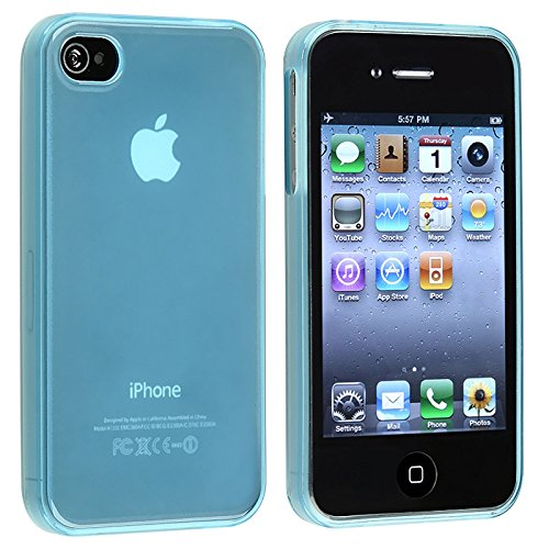 Frost Light Blue TPU Rubber Skin Case Cover - Iphone 4 Cover