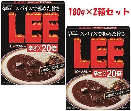 江崎グリコ ビーフカレーLEE(リー) 辛さ20倍×2個 お試しセット