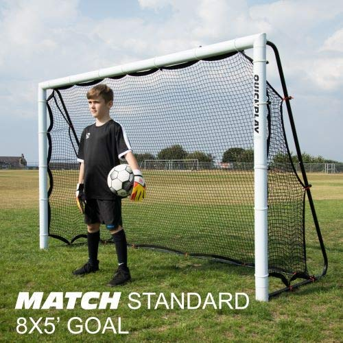 QuickPlay 2in1 Soccer Goal + Rebounder | Use as 8x5' Goal from The Front OR a Soccer Rebounder from The Back | The Ideal Team Shooting Target or Backyard Soccer Trainer – 2YR Warranty