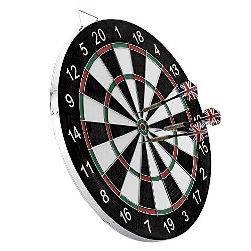 ROVATE® Profi Bristle Dartscheibe Dartboard Dartspiel Wurfspiele inkl.6 Dartpfeile
