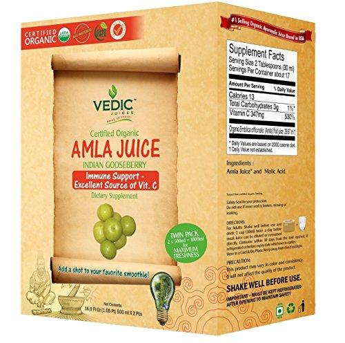 Amla Juice / Indian Gooseberry 1000 ml - USDA Certified O...