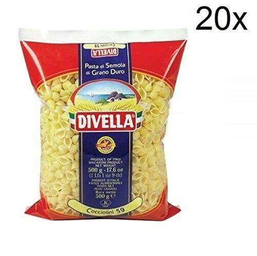 20x Pasta Divella 100% Italienisch N° 59 Cocciolini Nudlen 500 g