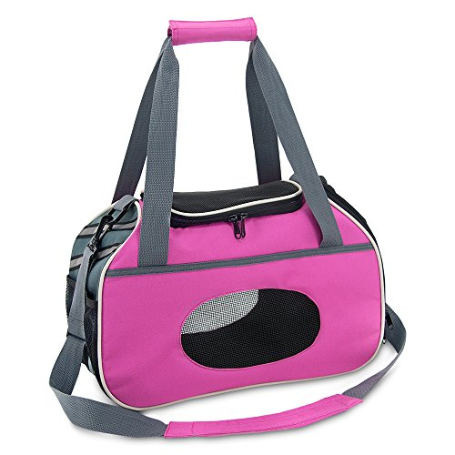 Best Pet Supplies Pet Travel Carrier for Small Dogs and Cats with Ventilation, Fuchsia