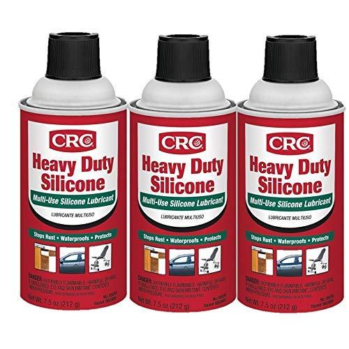 Crc Silicone Spray - CRC 05074 Heavy Duty Silicone Lubricant - 7.5 Wt Oz. Pack of 3