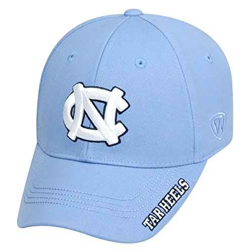 Top of the World NCAA-Premium Collection-One-Fit-Memory Fit-Hat Cap-North Carolina Tar - Carolina Heels Cap Tar North