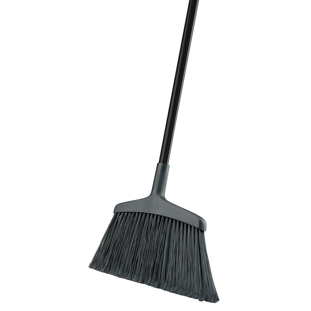 Libman Commercial 1115 Wide Commercial Angle Broom, Steel Handle, 15'' Wide, Black Handle (Pack of 6) by Libman Commercial