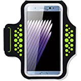 Note 7 Armband, Haissky HSK-93 SweatProof Sport Running Case Armband for Iphone6 6s 6 Plus 6s Plus Samsung Galaxy S5 S6 S7 Edge Plus Note 5 7 with Id Credit Card Money Holder (Green)